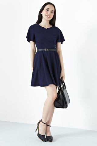 Twenty3 - Katniss Skater Dress in Navy Blue -  - Dresses - 1