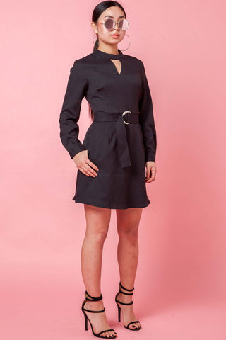 Sherya Long Sleeve Dress in Black