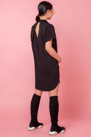 Allene Shift Dress in Black