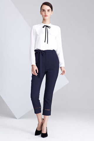 Tuni Tapered Long Pants in Navy Blue