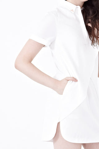 Twenty3 - Telfer Collared Shift Dress in Off-white -  - Dresses - 1