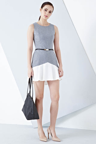 Twenty3 - Albany Contrast Hem Sheath Dress in Grey -  - Dresses - 1