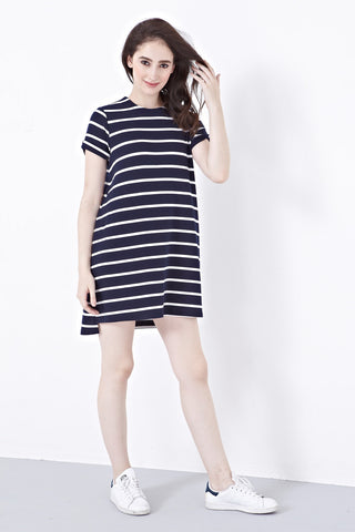 Twenty3 - Shelbie T-Shirt Dress in Stripes -  - Dresses - 1