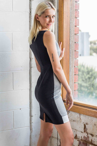 Theasa Colour Block Bodycon Dress