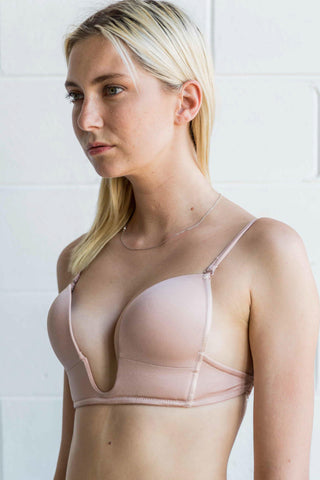 Deep U Plunge Bra in Champagne - Accessories - Twenty3