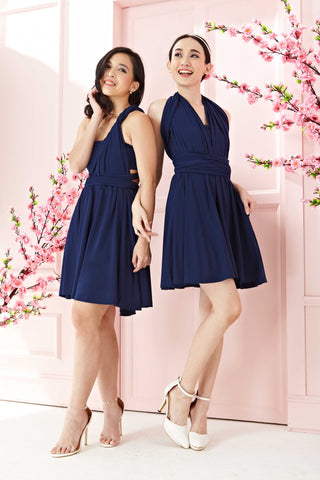 Twenty3 - Marilyn Convertible Bridesmaids Dinner Dress Version III in Navy Blue (Short) -  - Bridesmaids - 1