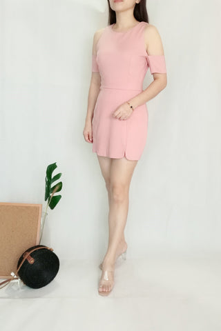 Plain Pink Playsuit