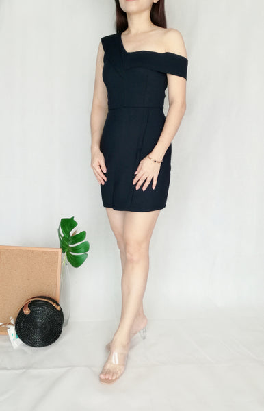 Bodycon Romper in Navy Blue