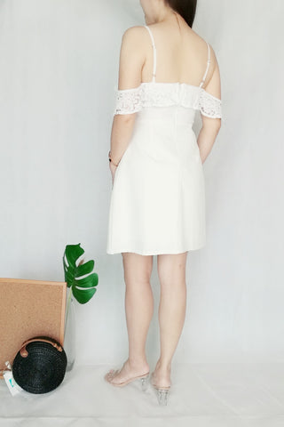Two-way Off-Shoulder White Midi Dress