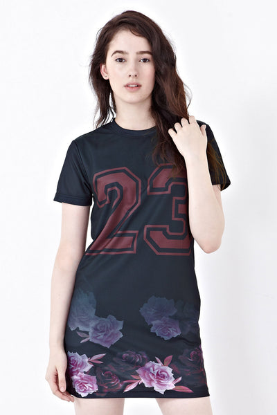 Twenty3 - Rui Football Jersey Dress in Graphic Prints -  - Dresses - 1