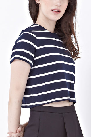 Shelbie Crop Top in Stripes - Top - Twenty3
