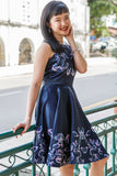 Natilee Dress in Navy Blue - Dresses - Twenty3
