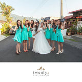 Twenty3 - Marilyn Convertible Bridesmaids Dinner Dress Version III in Tiffany Blue (Short) -  - Bridesmaids - 17