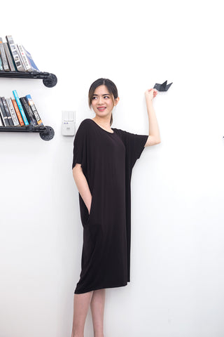 Twenty3 - Addie Oversized T-Shirt Dress in Black -  - Dresses - 1
