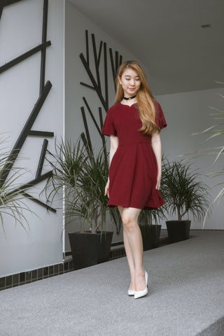 Twenty3 - Katniss Skater Dress in Burgundy -  - Dresses - 1