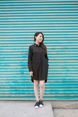 Twenty3 - Larainne Shirt Dress in Black -  - Dresses - 1