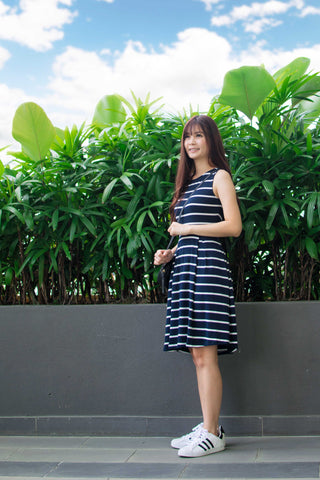 Twenty3 - Shelbie Skater Dress in Stripes -  - Dresses - 1