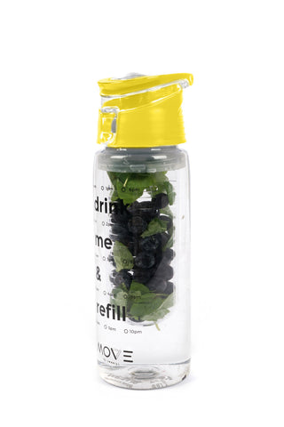 BPA-free Infuser Bottle in Yellow