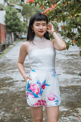 Ying Two-Way Romper in Floral Prints