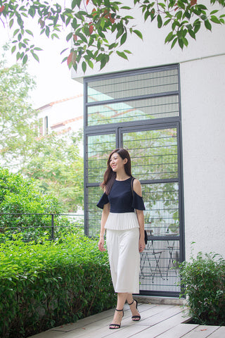 Xandria Culottes in Off-White - Bottoms - Twenty3