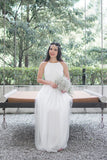 Twenty3 - Jezebel Lace Panel Tulle Bridal Gown in White -  - Maxi Dress - 2