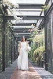 Twenty3 - Jezebel Lace Panel Tulle Bridal Gown in White -  - Maxi Dress - 17