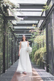 Twenty3 - Jezebel Lace Panel Tulle Bridal Gown in White -  - Maxi Dress - 18
