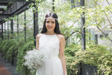 Twenty3 - Jezebel Lace Panel Tulle Bridal Gown in White -  - Maxi Dress - 19
