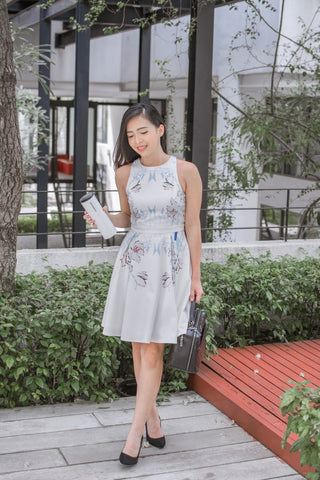 Twenty3 - [LIMITED EDITION] Papila Skater Dress in Bonnie Placement Prints -  - Dresses - 1