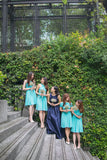 Twenty3 - Marilyn Convertible Bridesmaids Dinner Dress Version III in Tiffany Blue (Short) -  - Bridesmaids - 2