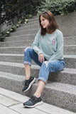 Bubblegum Jumper with Patch in Dusty Green Tops - Twenty3 AU