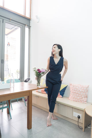 Twenty3 - Bianca Sides Cutout Jumpsuit in Navy Blue -  - Romper - 1