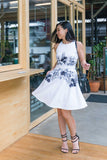 Twenty3 - Amethyst Skater Dress in Black and White Floral Prints -  - Dresses - 2