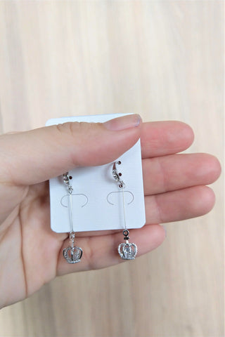 Crown Drop Earrings