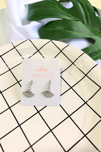 Silver Fan Earrings