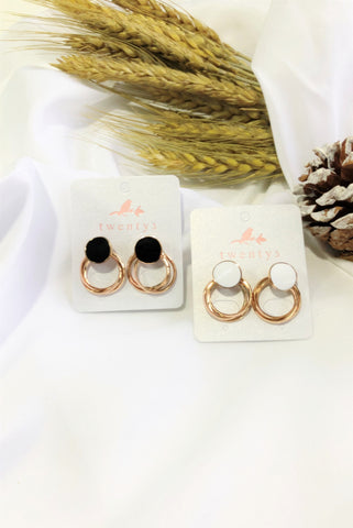 Round Hoops Earrings