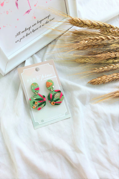 [HANDCRAFTED] Clay Earrings Green