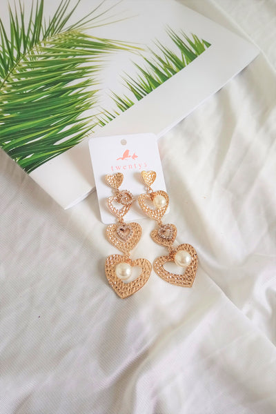 Heart Gold Earrings