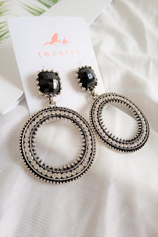 Black Wheel Earrings