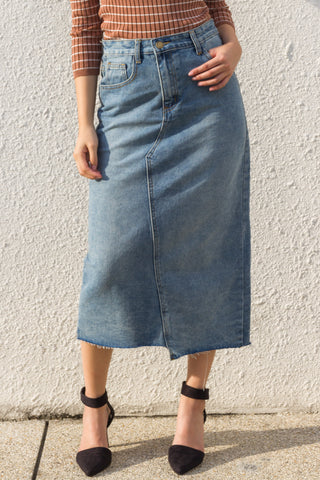 Ninon Skirt in Light Denim