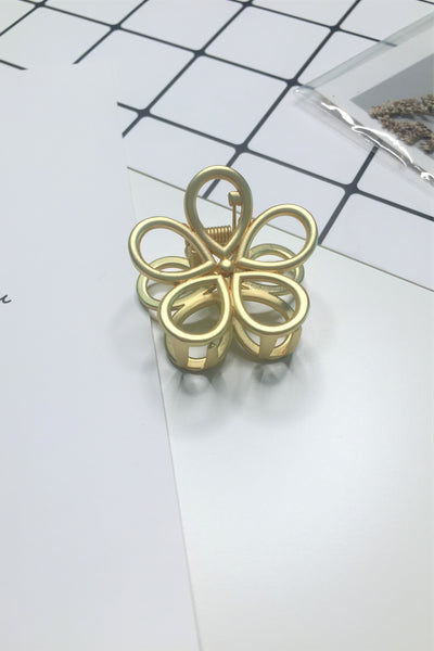 Plating Metal Flower Hair Claw Clip