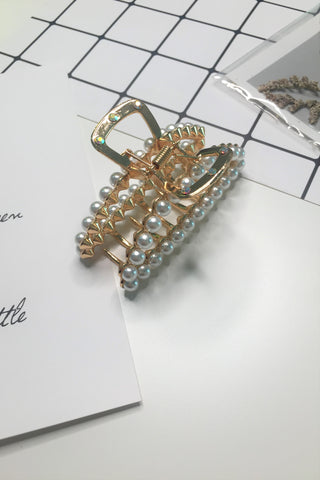 Pearl Barrette Oversize Hair Claw Clip