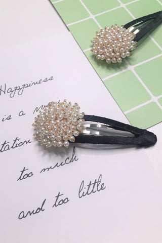 Whole Flower Pearls Hair Clip