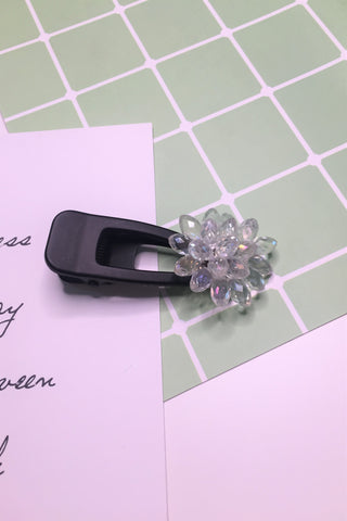Whole Flower Crystal Hair Clip