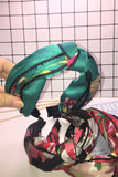 Twisted Knotted Painted Headband in Green