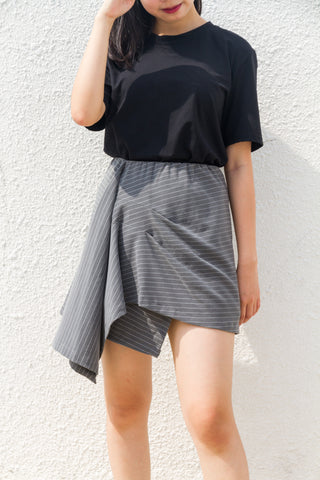 Roy Skirt in Grey Stripes