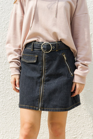 Tremblay Denim Skirt in Black