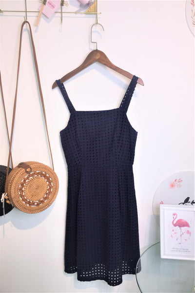 Eden Dress in Navy Blue