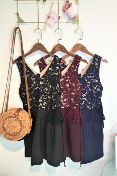 Clara Lace Romper in Black