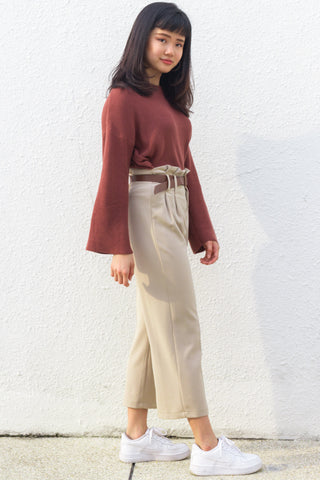 Joanne Pants in Khaki - Bottoms - Twenty3